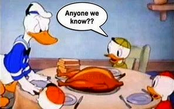 Donald Duck Thanksgiving