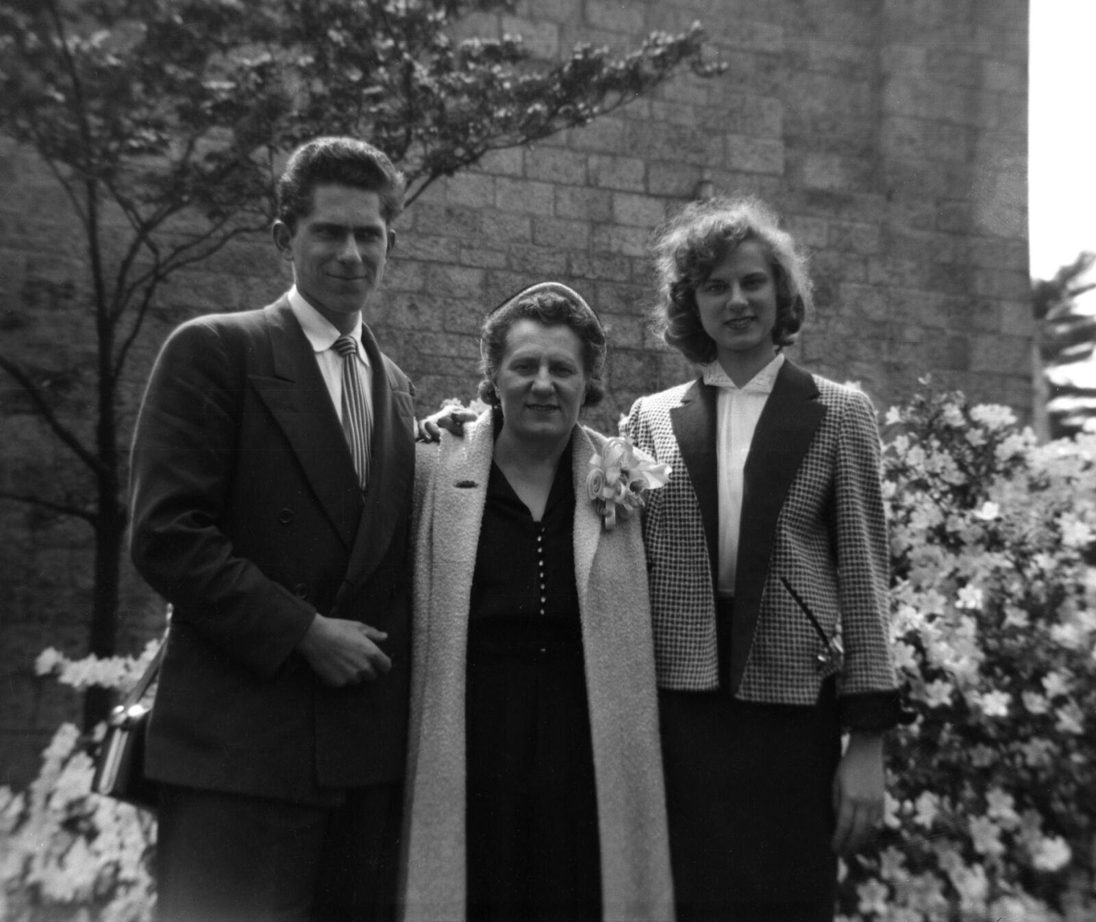 Eddie, Olga, and Grace Kmeta circa 1951